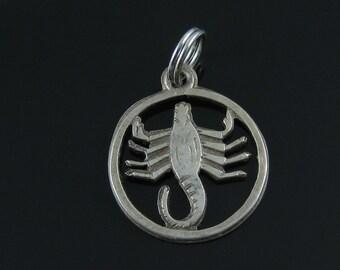 Vintage 835 Silver Scorpion Zodiac Charm