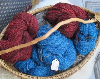 Russet-Rose Handspun Wool Yarn  #1