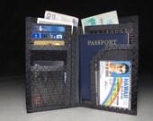 RFID Passport Wallet - Olive Green Kevlar Aramid - Mens Travel Wallet - The Cadillac - Vegan
