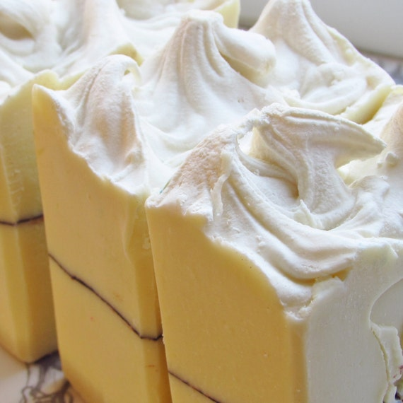 White Witch cold process soap. Geranium - Patchouli - cocoa butter.