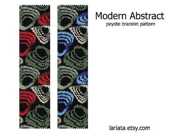 Modern Abstract - Peyote Bracelet Pattern - INSTANT DOWNLOAD