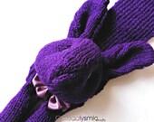 Purple Bunny Rabbit Scarf