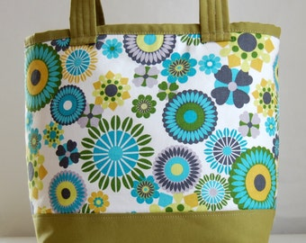 Kaleidoscope Bloom Fabric Tote Bag - READY TO SHIP