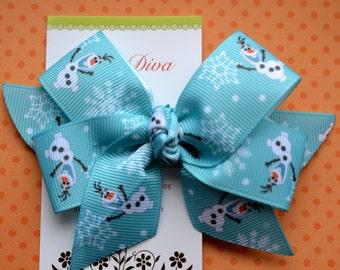 Turquoise Olaf Classic Diva Bow