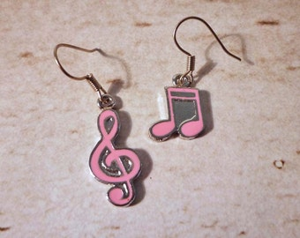 SALE - Musical Note and Sol Key Dangle Earrings