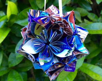 Universal Studios Park Map Small Paper Flower Pomander Ornament
