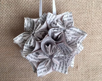 Sherlock Holmes Book Small Paper Flower Pomander Ornament