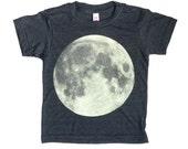 Moon Tee, Kids Moon Shirt, Moon Print Tee Shirt, Kids Moon Tee