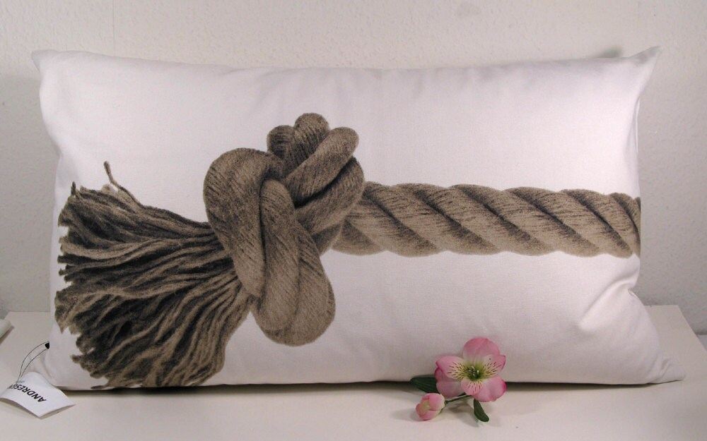 Scandinavian Style Pillows : SCANDINAVIAN DESIGN PILLOW with rope
