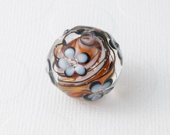 Flower Focal Lampwork Bead