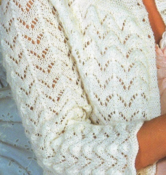 Bed Socks Knitting Pattern 2 Needles : PDF Knitting Pattern / Womens Lacy Cardigan Bedjacket and Socks / 4ply Y...