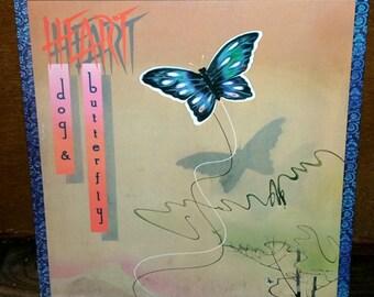Heart Dog & Butterfly Vintage Vinyl Record