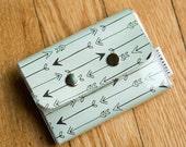 Teal Arrow - Double Snap Wallet