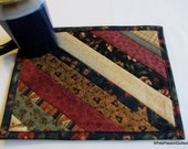 Snack Mat Mug Rug Dark Reproduction Fabrics no2