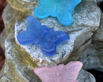 Butterfly Vegan Soap Set - Spring Soap - Butterfly soap - Novelty Gift - Mothers Day - Gift for Her - Grandmother - Springtime