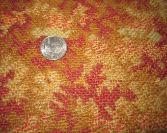 Antique Circa 1905 Arts & Crafts 26x90 Gorgeous Woven Wool Upholstery Fabric for Assemblage No.1