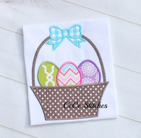 Easter basket embroidery applique design by sapphiremommy