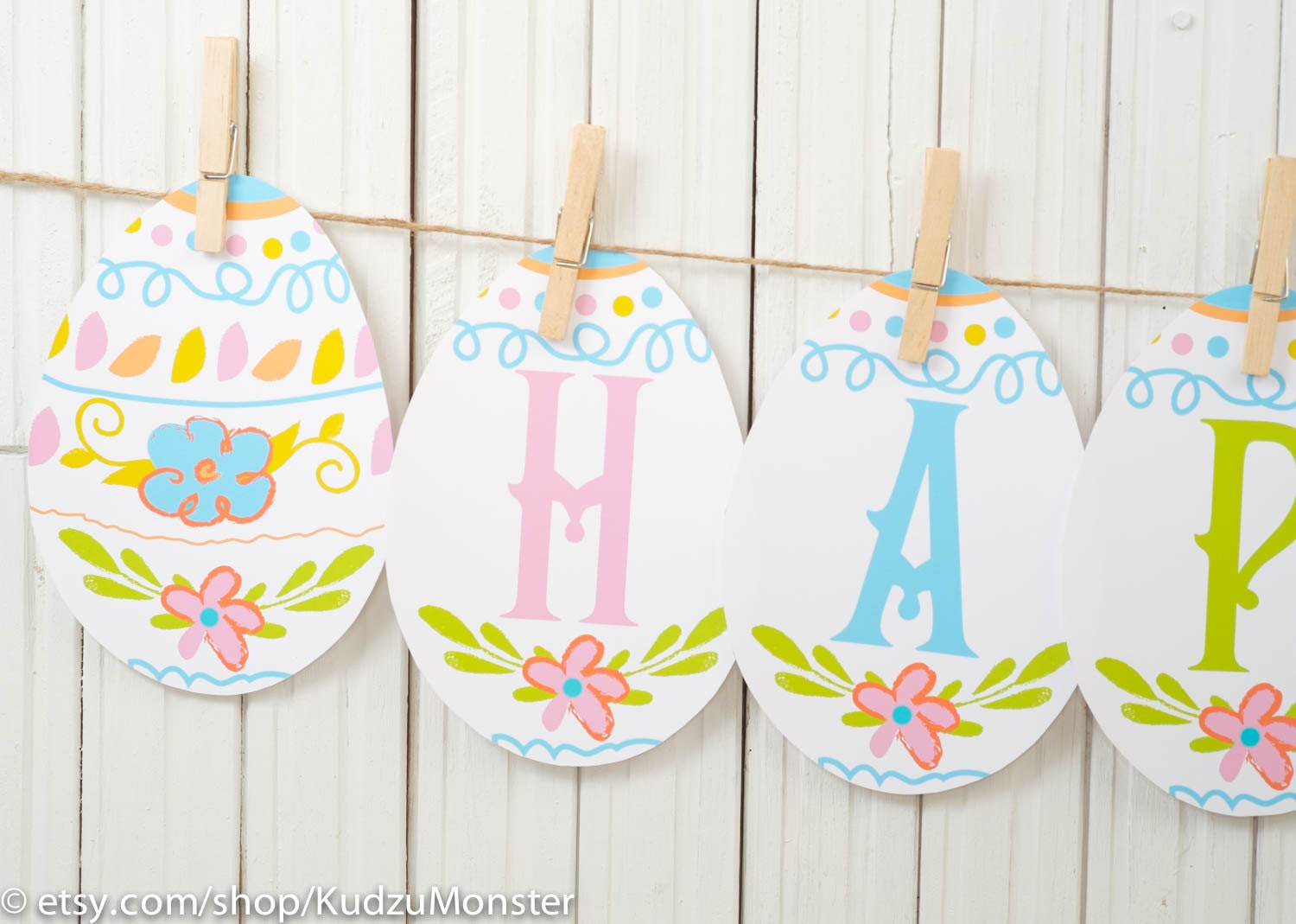 Magic image within happy easter banner printable