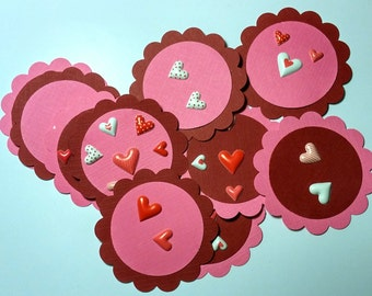 Sweet Hearts Strawberry Pink and Red Valentine's Day Paper Tags