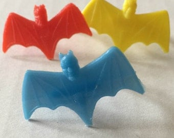 1960s Set of Three SPIKEY BATMAN Rings in ALL 3 Colors Hong Kong
