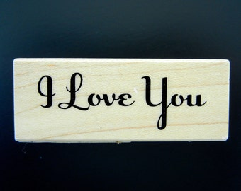 Inkadinkado I LOVE YOU Wood Mount Rubber Stamp