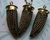 Shop Sale.. Big Horn Pendant Charm, Large Horn Tusk, Gold Brass, 55x20 mm, Black, Bohemian Tibetan Boho ap100.10 mh26