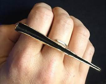Lg Stiletto dagger statement ring