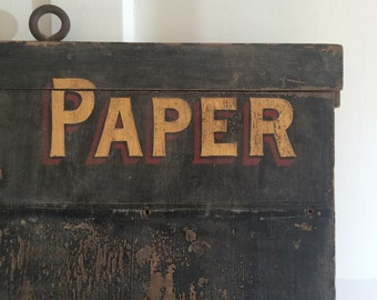 Antique Store Wall Paper Wood Sign