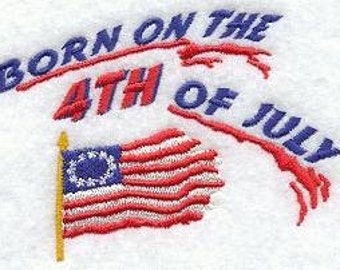 Embroidered 4th of July  American Flag Flour Sack Towel/ HandTowel / Bath Towel / Apron