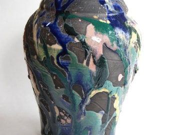 Vintage Pottery, Vase, Kocl, Hand Crafted