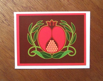 Pomegranate Note Card