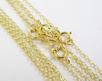 1 DOZEN 18 inch 18KT Gold Plated Chain