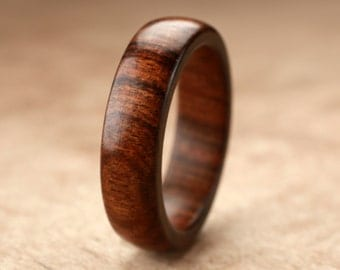 Custom Tamboti Wood Ring - 6mm