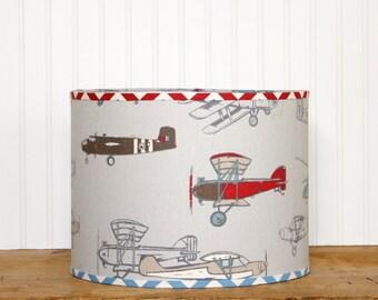 Boys Drum Lamp Shade Lampshade Pendant Vintage Air by Premier Prints