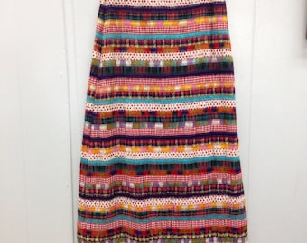 Maxi Length Ribbon Fabric Skirt