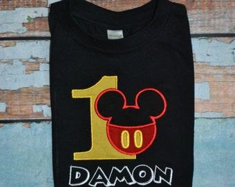 Mickey Mouse Birthday Shirt, Boys Mickey Mouse Birthday Shirt, Boys Birthday Shirt
