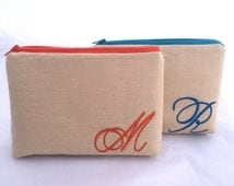Personalized Bridesmaids Gift Bag with Monogram Custom design your own in a variety of colors and patterns