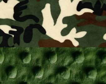 Camo baby boy gift etsy camo baby blanket minky baby lovey personalized baby blanket green brown boy negle Image collections