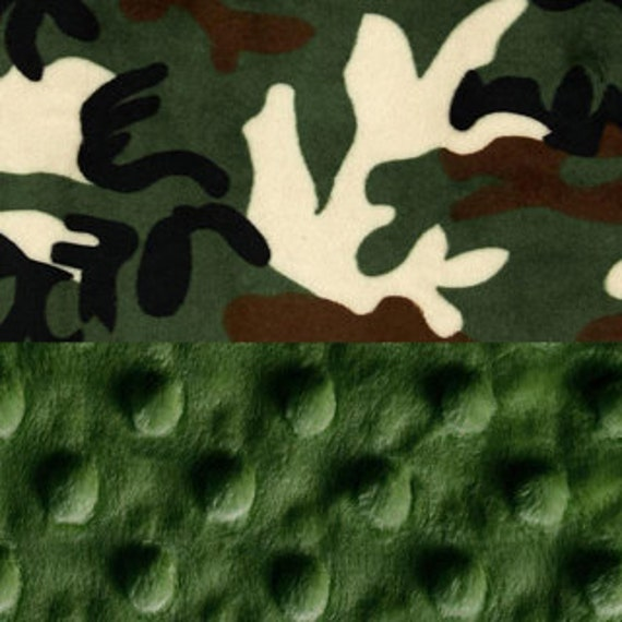 Camo Baby Blanket, Minky Baby Lovey, Personalized Baby Blanket, Green Brown, Boy Lovey, Mini Blanket, Minky Burp Cloth, Baby Shower Gift