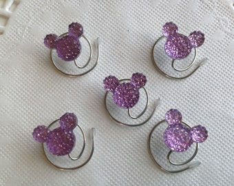 MOUSE EARS Hair Swirls Disney Themed Wedding in Dazzling Lilac Acrylic Coils Twists Spins Spirals Bridesmaids Hidden Mickeys