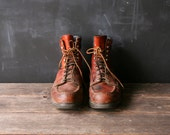 Vintage Mens Red Wing Boot Hunting Boot Moccasin Style Toe Size 11 D From Nowvintage on Etsy