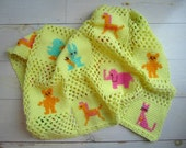Vintage Yellow Baby Blanket