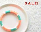 Neon Green Colorful Thread Bangle Bracelet | no. 507D
