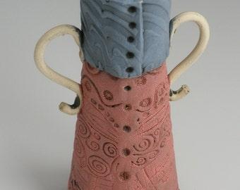 Handmade Vase, Pink Flower Vase, Clay Vase, FLOWER VASE, Pink Vase, Pottery Vase, Ceramic Vase, Porcelain Vase, Bud Vase