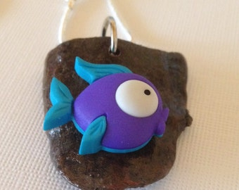 FREE SHIPPING - faux mounted fish taxidermy necklace