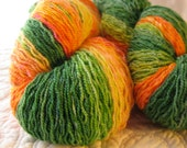 Peach Faced Lovebird Ombre ~ handpainted on Shakti Hi Twist ~ 2 matching 60g 1/2 skeins