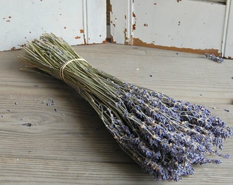 Dried Lavender Bouquet /  French Lavender Bunch /  DIY Rustic Wedding Decor / Barn Wedding Decor