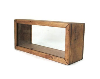 Standing Shadow Box - Rustic Display Case - Keepsake Box - Home Decor