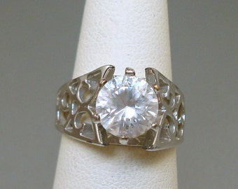 Chunky Rhinestone Ring