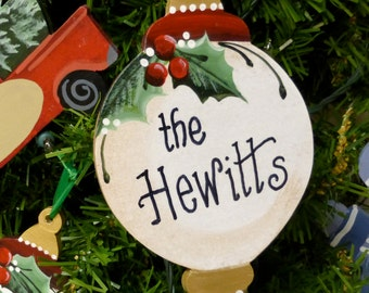 Personalized Wood Christmas Ornament